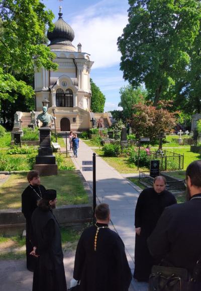 Участники конференции в Свято-Троицкой Александро-Невской лавре